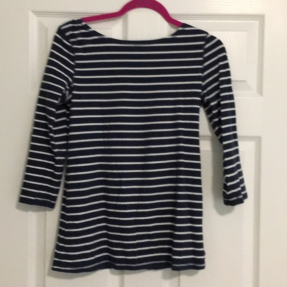 Joe Fresh Tops - Joe Fresh boat neck scoop back striped top